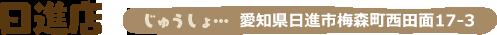 日進店 愛知県日進市梅森町西田面17-3